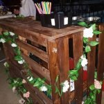 rustic mobile wedding Bar