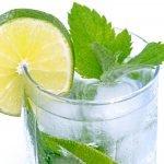 Go Bars lemon and mint drink